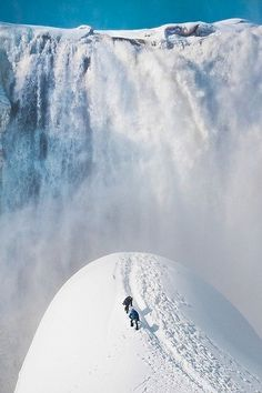Montmorency Falls in Quebec, Canada | nature creates stunning art