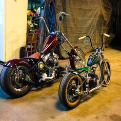 The Original Kikker 5150 Hardknock was a little on the small size. Mini Chopper Motorcycle, Bobber Chopper, Motorcycle Bike, Bobber Bikes, Cool Motorcycles, Triumph Motorcycles, Mini Bike, Custom Choppers, Custom Bikes
