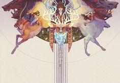 """final battle"" by yaphleen. (princess mononoke)"