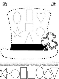 Leprechaun Hat > Learn colors and shapes, tracing with the