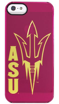 """""""ASU Pride"""" by Uncommon for the iPhone 5 Clearly Uncommon™ Deflector"""