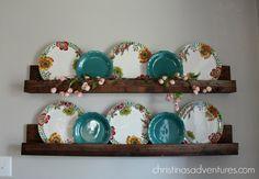 Hanging Plates, Plates On Wall, Plate Wall, Advent, Plate Shelves, Plate Racks, Ledge Shelf, Picture Shelves, Plate Display
