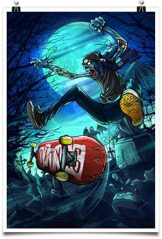 Graveyard Flip poster by Ottyag