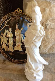 Vintage 11 White Porcelain Geisha Figurine