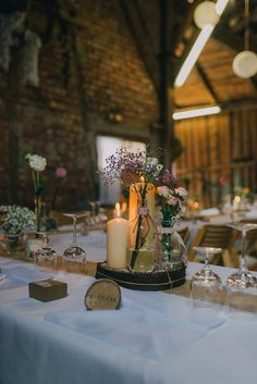 Tischdekoration Hochzeit Birke