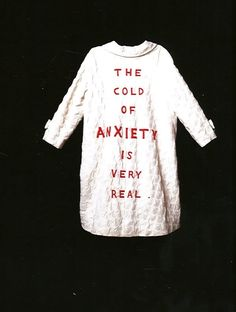 Louise Bourgeois: She Lost It (1992).  I am not the only women artist with anxiety.