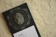 Tutorial - How to make your own stamp...from a lace doily! Cameo Notepad Holder