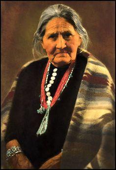 An elderly Navajo woman.