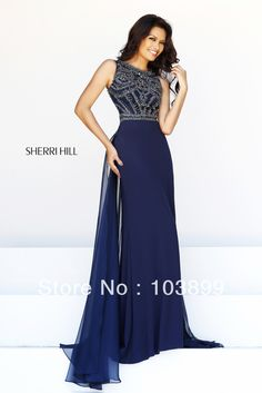 Euro Type A line High Neck Crystals Beaded Red Chiffon Floor Length Modest Prom Dresses Long 2014 Best-in Prom Dresses from Apparel Accessories on Aliexpress.com