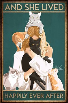 Crazy Cat Lady, Crazy Cats, I Love Cats, Cool Cats, Cat Posters, All Poster, Poster Prints, Photo Chat, Cat Quotes