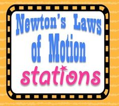 Science Stations -- my students always love being able to move around the room. These stations have some wonderful interactive activities that keep students busy learning the entire class period! Newton's Laws of Motion