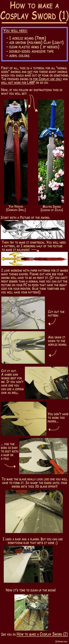 DIY Cosplay Sword Tutorials (9 Picture Instructions) - Snappy Pixels