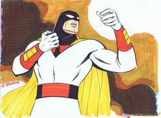 Space Ghost Color Copic Marker Sketch of the Day Sketch Markers, Copic Markers, Wonder Twins, Space Ghost, Ronald Mcdonald, Disney Characters, Fictional Characters, Comic Books, Sketches