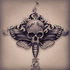 A Skull Moth tattoo for the #underboob area. I still haven't done this tattoo and I'm offering $500 for it. If you steal this and get it done somewhere else for cheaper then you're as cheap as the artist who's trying to do it. Remember, you can't copy creativity.