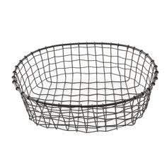 Wire Basket Decor, Black Wire Basket, Basket Crafts, Basket Decoration, Wire Baskets, Urban Farmhouse, Container Flowers, 4 H, Decorative Bowls