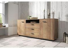 Dressoir Wild - Eiken - Zwart - 197 cm - ACTIE Cabinet, Storage, Furniture, Home Decor, Products, Clothes Stand, Purse Storage, Decoration Home, Room Decor