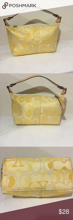 Coach hobo bag! Small coach yellow hobo bag in perfect condition! Coach Bags