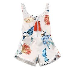 Alonea Sleeveless Floral Romper Girl Boy Kid Baby Jumpsuit Clothes Outfits 80 Beige -- You can find out more details at the link of the image.Note:It is affiliate link to Amazon.