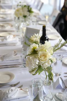 Season: Summer, December 2015 Ceremony: Cardinal Cerretti Memorial Chapel, Manly Reception: Manly Wine Beach Suites at The Sebel, Manly Wedding theme: luxurious Hamptons, modern, lots of whites and a love for peonies Featured flowers: peonies, garden roses, ferns, plumosa, hydrangea, d