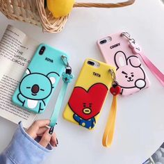 Online shopping for BTS merchandise with free worldwide shipping Kawaii Phone Case, Cute Phone Cases, Iphone 7 Plus, Mochila Do Bts, Bts Name, Silicone Iphone Cases, Kpop Merch, Line Friends, Free Shipping
