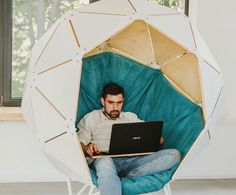 Modern Planet ball chair: Chair as a private office space