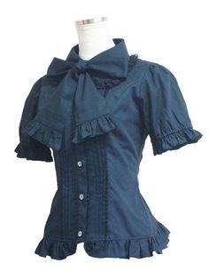 Marueri puff sleeve blouse (Black)