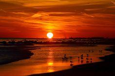 Sunset at Long Beach, New York
