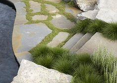 Edmund Hollander Landscape Architects Landscape Stairs, Landscape Architecture, Landscape Design, Garden Design, Landscape Elements, Paving Pattern, Garden Steps, Garden Paths, Outdoor Steps