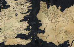Mapa Game of Thrones Ficção