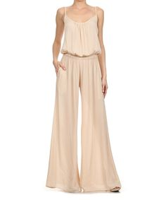 Look at this Karen T. Design Ivory Blouson Jumpsuit - Women on #zulily today!