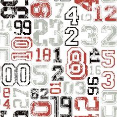 York KS2362 Cool Kids Varsity Number Wallpaper