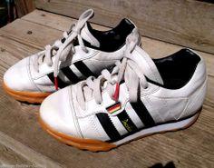 ADIDAS boys Trainers UK 13.5 US 1 German Deutschland rare VGC