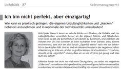Mut zur Unvollkommenheit – Lichtblick, Magazin für praktizierte Individualpsychologie, Heft 87