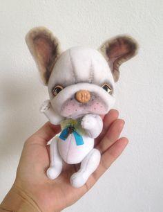 OOAK teddy french bulldog Nicolas Collectible by TeddyRusaLena