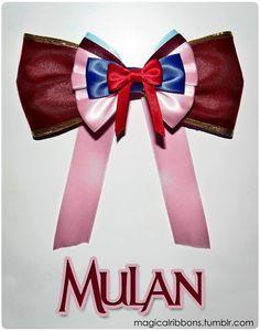Mulan Bow - Magical Ribbons Shop