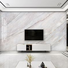 White Marble Wallpaper Custom Marble Wall Murals Peel and Stick Easy Removable Pattern Wallpaper Living Room Wall Mural