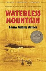 Review of the 1932 Newbery Medalist: Waterless Mountain, by Laura Adams Armer. FIVE STARS (W) - Armer provides a moving portrait of Navajo Indians learning to transition between ancient and modern ways. #NewberyMedal