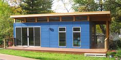 9 Sources for midcentury modern sheds - prefab, DIY kits, and plans - Retro Renovation Midcentury Modern, Midcentury Sheds, Bungalow, Prefab Sheds, Shed Construction, Cheap Sheds, Studio Shed, Modern Shed, Retro Renovation