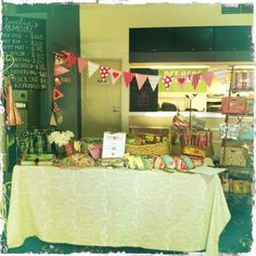 Our stall set up at Mathilda's Market