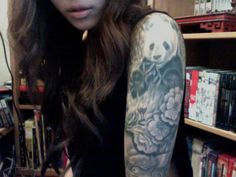 I love it (I'd never get it because of the size but it's so awesome). panda tattoo | Tumblr