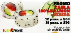 Salmon - SushiPhone - el mejor delivery de Sushi de Buenos Aires - Para hacer pedidos llamanos al 0810 345 7874 . Envios gratis para el macrocentro. Hace tu pedido de Sushi.Delivery de Sushi en caballito, Palermo , Belgrano,Nuñez, Micorcentro, Puerto Madero