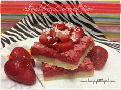 Fresh Strawberry Coconut Bars - Easy to make and absolutely melt-in-your-mouth!