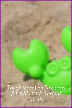 Sometimes kids with special needs don't handle vacations and events well. How to help kids in these situations. Tough Vacation Decisions for Special Needs Kids|The Holy Mess