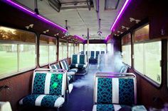 40 seat party bus interior