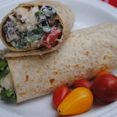 Creamy Chickenless Salad Wraps | Made Just Right by Earth Balance #vegan #earthbalance