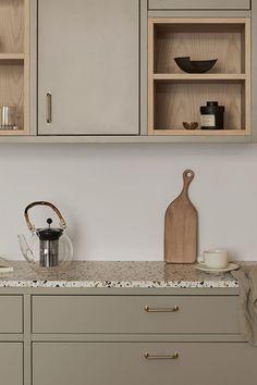 Kitchen Room Design, Kitchen Sets, Modern Kitchen Design, Home Decor Kitchen, Interior Design Kitchen, Home Kitchens, Nordic Kitchen, Scandinavian Kitchen, Beige Kitchen