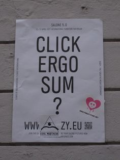 """Click Ergo Sum?"" - Street Art"