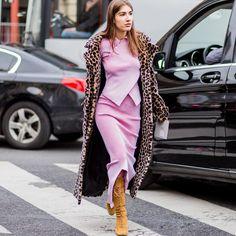 """203 Likes, 2 Comments - ShopBAZAAR by Harper's BAZAAR (@shopbazaar) on Instagram: """"Leopard + Pink = Winning Style. #streetstyle #tapthelink #ShopBAZAAR"""""""