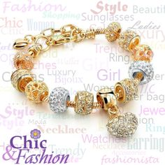 Luxury Crystal Heart Bracelet   Check these styles in Chicandfashionstore.com   #Luxury #Bracelet #Accessories #Bijoux #Moda #Style #Fashion