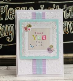 Thank You card made with the Papermania  Bellissima collection.